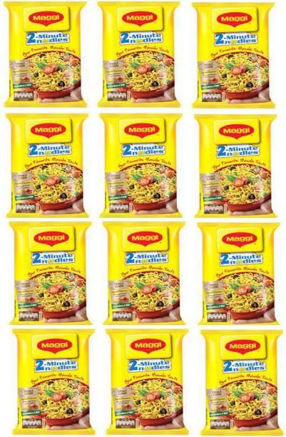 Maggi Masala Instant Noodles Vegetarian 840 grams (70g*12) Instant Noodles Vegetarian