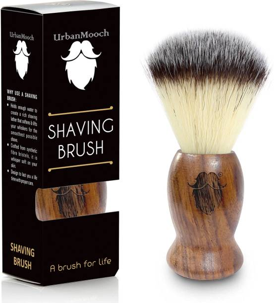 UrbanMooch  For Men | Sheesham Wood  with Ultra Soft & Absorbent Bristles & | Imitation Badger Hair  | Cruelty Free | For A Smooth Shave Shaving Brush