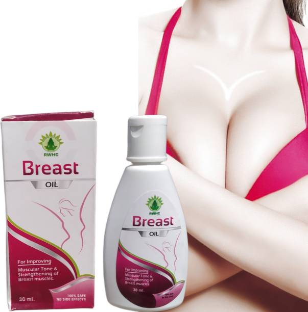 RWHC Breast toner massage oil 100% natural/ayuvedic oil which helps in growth/firming/increase/tightening/increase for big size bust36 bosom for Women