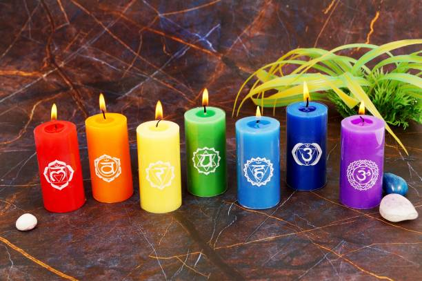 Parkash Candles Parrafin Wax Chakra Candle Candle