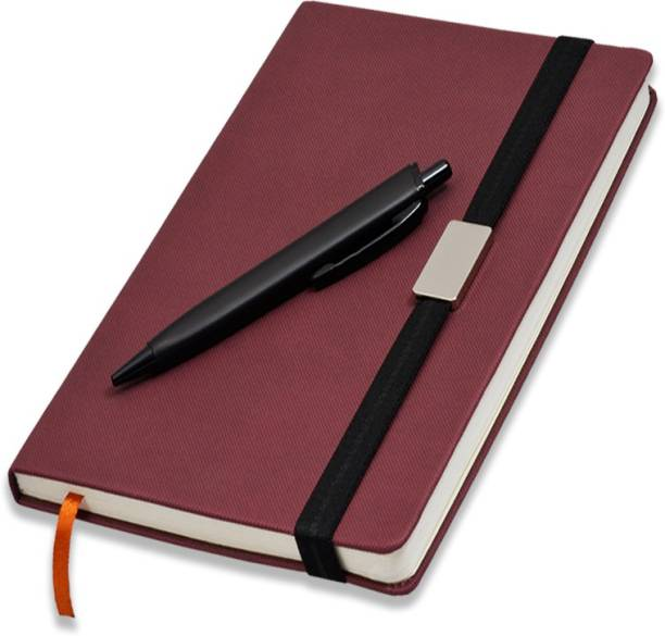 COI Diary with Elastic Lock A5 Pocket Planner Giftset for Men   Women with Pen A5 Diary RULED 192 Pages