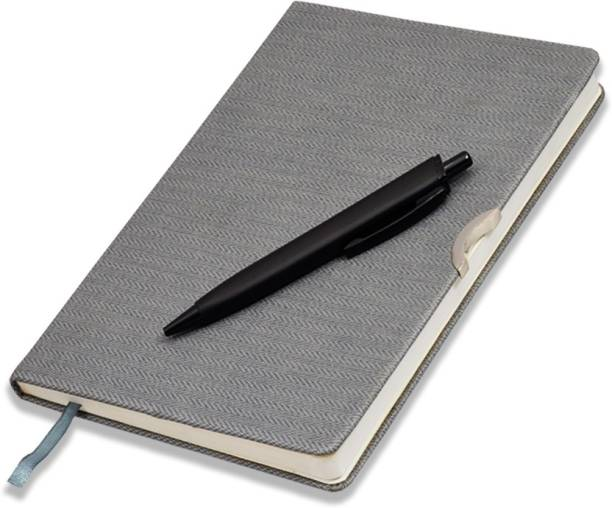 COI Diary Grey UNDATED Notebook - Unique Stationery A5 Pocket Planner and Organiser for Business Interviews and Corporate Meetings with Pen. A5 Diary RULED 192 Pages
