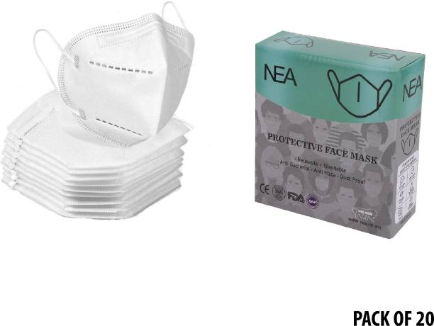 Nea N95 5 Layer Reusable / Washable Anti - Pollution , Anti - Virus Breathable New Mask Face Mask ( White ) for Men , Women and Kids mask respirator GV601 Water Resistant, Reusable, Washable