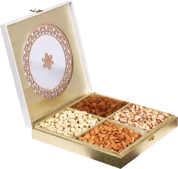 Sonature Cashews, Almonds, Pistachios And Raisins   700 Gram   Diwali Dry Fruits Gift Pack, Festival Deepavali Gift Hamper I Corporate Gifts For Family, Friends, Office Clients Occasion, Celebration, New year, Function, Gift I Bhai Dooj Gift Set For Brother Sister, Treats Gifting Box