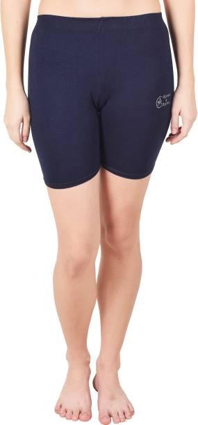 Apraa & Parma Solid Women Blue Cycling Shorts