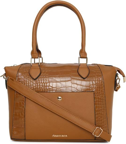 Fastrack Tan Satchel Textured Tan Satchel Bag