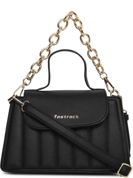 Fastrack Black Sling Bag Quilted Black Sling Bag