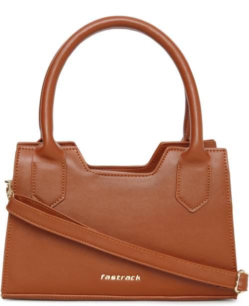 Fastrack Brown Sling Bag Structured Brown Sling Bag