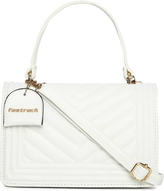 Fastrack White Sling Bag Quilted White Sling Bag