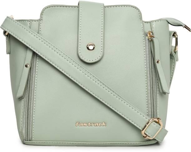 Fastrack Green Sling Bag Solid Mint Green Sling Bag