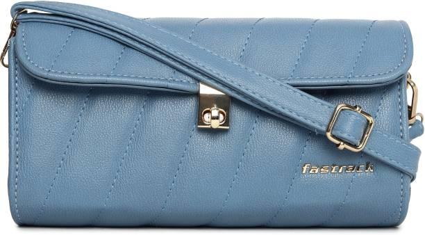 Fastrack Blue Sling Bag Quilted Blue Sling Bag