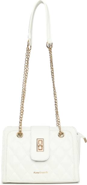 Fastrack White Satchel Quilted White Satchel Bag