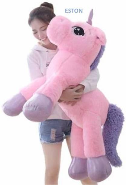 OZEE Big Size Funny Unicorn Stuffed Animal Plush Toy, Unicorn Soft Toys for Girls, Soft Toy, Teddy Bear for Girls, Kids, Your Beloved Ones, Birthday Gift  - 100 cm