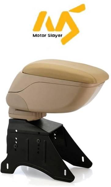 MOTORSLAYER Universal Car Arm Rest Beige Color (Leather Finish) Car Armrest