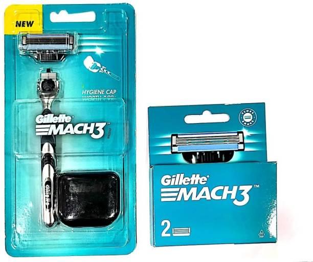 GILLETTE mach3 razor and mach3 2n cartridges