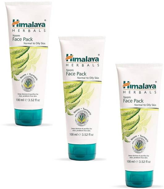 HIMALAYA Purifying Neem Pack Deep Cleanses & Purifies For Clear, Problem-Free Skin Each Pack of 3