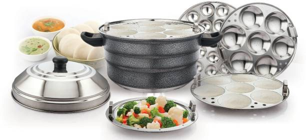 KLASSI KICHEN Induction And Standard Idly Cooker with Steamer Plate Induction & Standard Idli Maker (5 Plates , 21 Idlis ) Induction & Standard Idli Maker