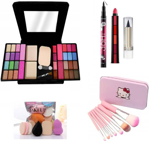MY TYA All in One 6154 Fashion Makeup Kit for Girls with EyeLiner, Kajal, Makeup Brushes, Sponges and 5 in 1 Lipstick
