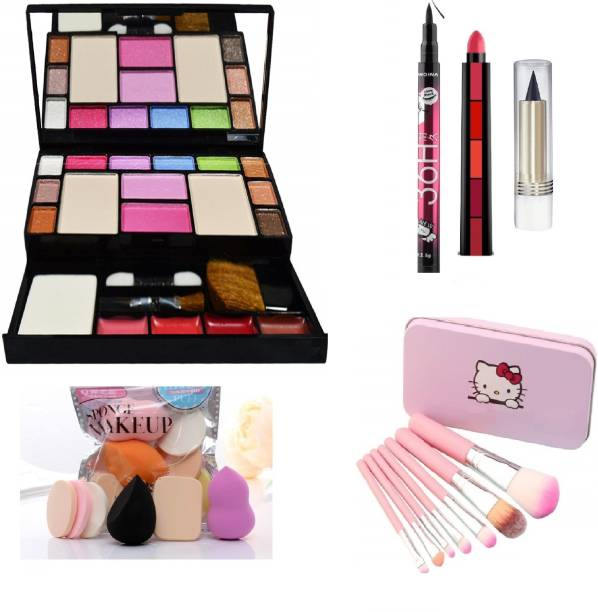 MY TYA All in One 6171 Fashion Makeup Kit for Girls with EyeLiner, Kajal, Makeup Brushes, Sponges and 5 in 1 Lipstick