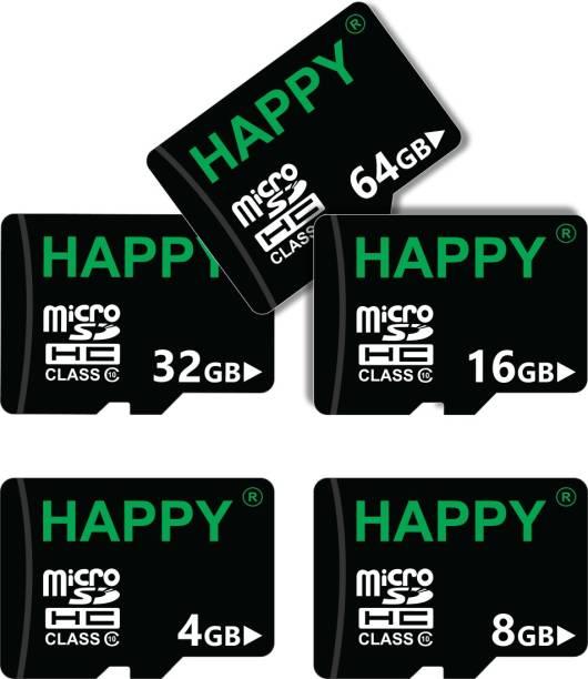 HAPPY MEMORIES 4+8+16+32+64GB MMC Card 120 GB MicroSD Card Class 10 15 MB/s  Memory Card