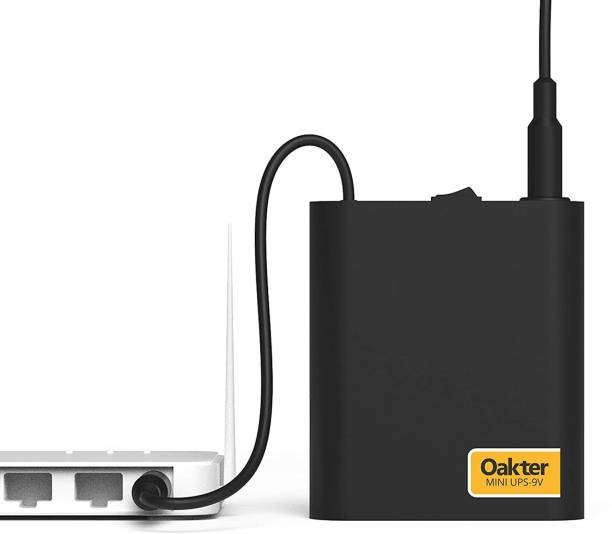 Oakter Mini UPS for 9V WiFi Router Broadband Modem | Backup Upto 4 Hours | WiFi Router UPS Power Backup During Power Cuts | UPS for 9V Router Broadband Modem | Current Surge & Deep Discharge Protection Power Backup for Router