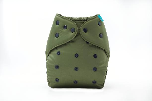 bumberry Adjustable Reusable Cloth Diaper Cover Without Inserts For Babies (Olive 3-36 Months)