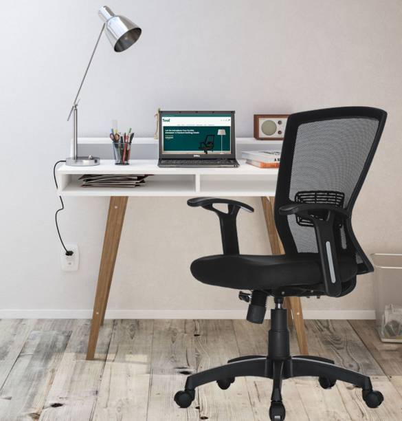 TEAL HECTOR Mid Back Mesh Office Executive Ergonomic Chair Nylon Office Arm Chair