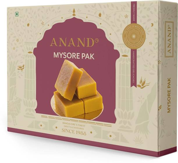 Anand Mysore Pak - Special Soft Melt in Mouth Pure Ghee Mithai, 500 gms Box