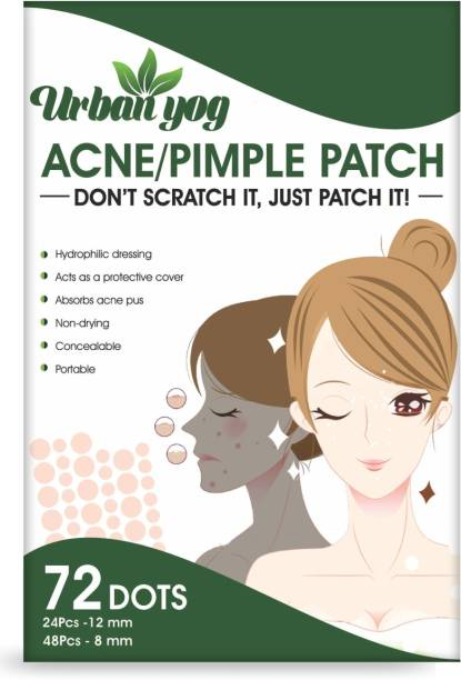 URBANYOG Acne Pimple Patch - Invisible Facial Stickers cover with 100% Hydrocolloid, Pimple/Acne Absorbing patch