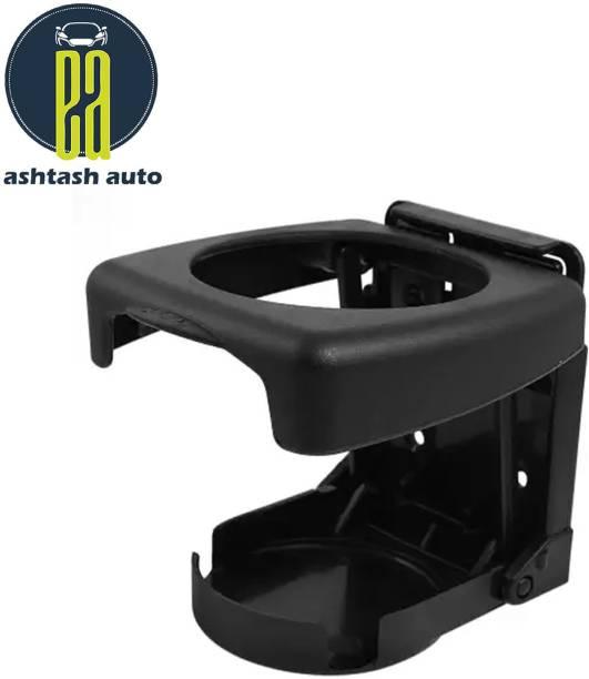 ASHTASH AUTO Ashtash Car Drink Holder, Foldable Cup Bottle Holders, Glass Cup Can for All Car (Black) Car Bottle Holder