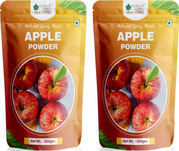 Bliss of Earth 2x200gam Apple Powder Natural Spray Dried (Pack of 2)