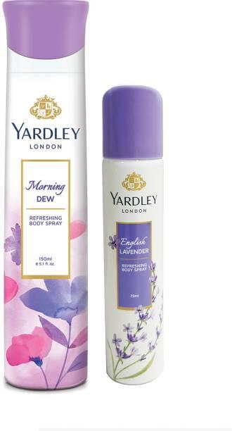 Yardley London Morning Dew Deo with English Lavender Deo Deodorant Spray  -  For Men