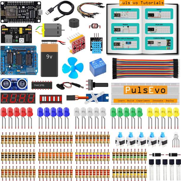 SunRobotics PULSEVO ESP8266 WIFI SUPER STARTER LEARNING KIT WITH ARDUINO IDE (LEARN – BUILD – EXPRIMENT – INNOVATE – DEPLOY) Micro Controller Board Electronic Hobby Kit