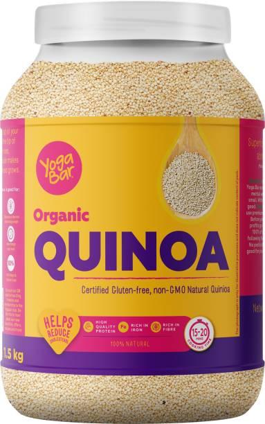 Yogabar Organic Quinoa 1.5kg - Certified Organic Quinoa for a Healthy Heart - Gluten Free Quinoa Grain - Diet Food for Weight Loss - Quinoa Organic that helps manage Sugar Levels - Superfood Quinoa