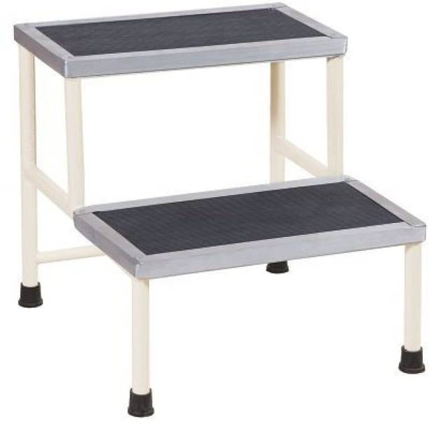 Hawk Eye Bed Side Single Foot Step/Stool with Anti Slippery Rubber Coating Top Medical Furniture for Hospital / Clinic / Nursing Home and Domestic Use. Hospital Food Stool