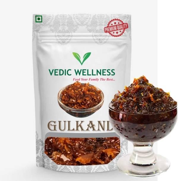 Vedik Wellness Natural Organic Gulkand Prepared Using Damask Rose Enhanced with Cardamon 800 g