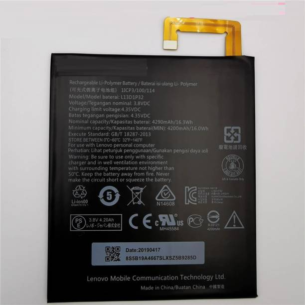 Ecart Mobile Battery For  Lenovo L13D1P32 Idea pad A8-50 A5500