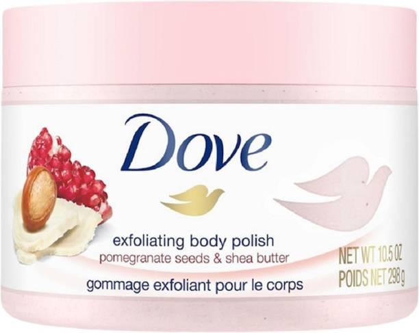DOVE Exfoliating Body Scrub | Shea Butter & Pomegranate Seeds - Oily Skin 298gm Scrub