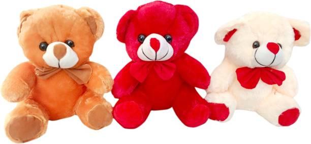 Toys Adventure Combo of 3 Soft Teddy Bear /Soft bear for kids/birthday gifts/decoration (12X10X27 cm)  - 27 cm