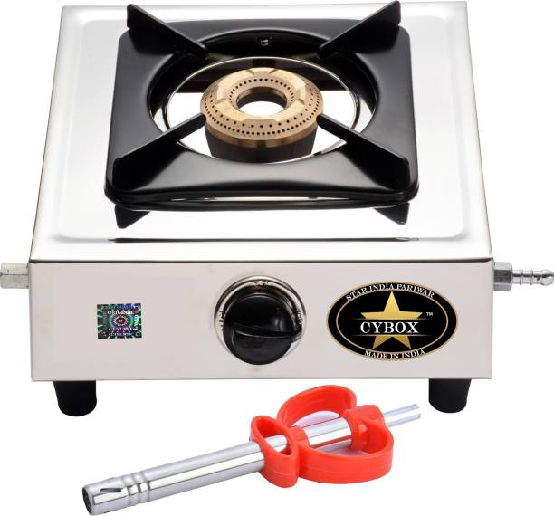 CYBOX byCYBOX Heavy Stainless Steel Single Gas Stove With Lighter Stainless Steel Manual Gas Stove