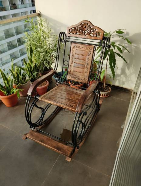 Giftoshopee GS277 Solid Wood 1 Seater Rocking Chairs