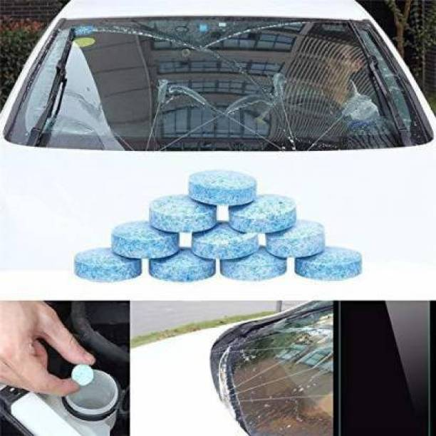 QPK Car Wiper Detergent Effervescent Tablets Washer Auto Windshield Cleaner Glass Wash Cleaning 10 Tablets Tablet Concentrate Vehicle Glass Cleaner (10 g) Tablet Concentrate Vehicle Glass Cleaner