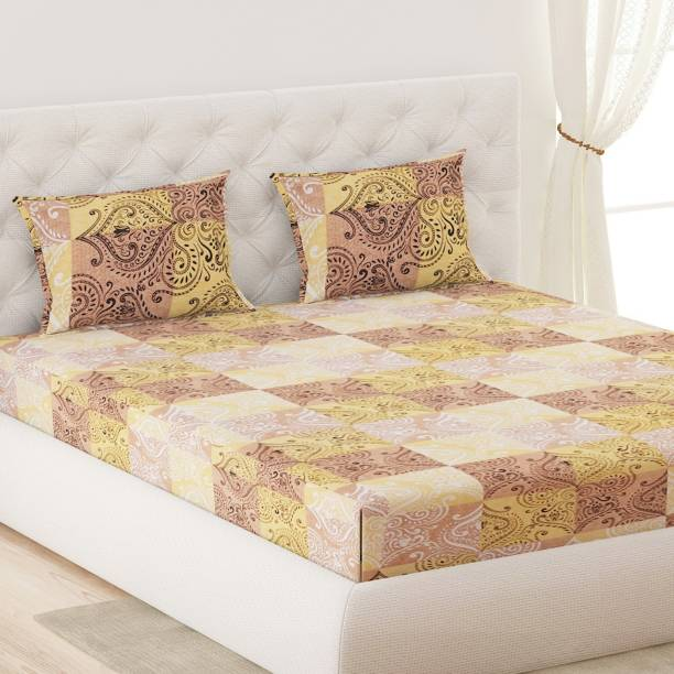 Moca by Monte Carlo 144 TC Cotton Double Printed Bedsheet