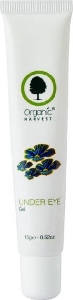 Organic Harvest Under Eye Gel For Remove Dark Circle, Fine Lines & Wrinkles, ECOCERT & PeTA Cerifie, Paraben & Sulphate Free - 15g (Tube)