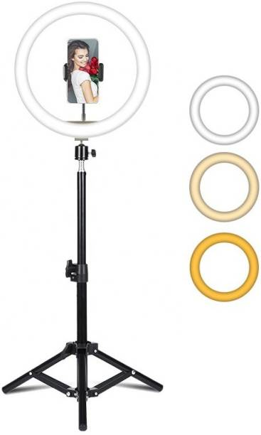 Wrapo Selfie Ring Light with Tripod Stand and Phone Holder, 12 inch Dimmable LED Camera Ring Light with 3 Light Modes For YouTube | Photo-shoot | Video shoot | Live Stream | Makeup & Vlogging Ring Flash