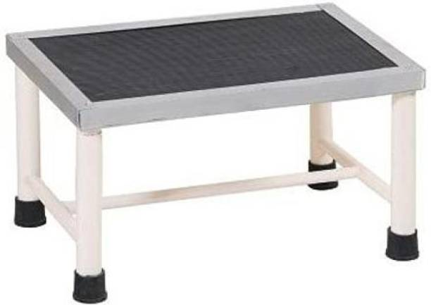 MINSHA EXPORTS Bed Side Single Foot Step/Stool with Anti Slippery Rubber Coating Top Medical Furniture for Hospital / Clinic / Nursing Home and Domestic Use (Single Foot Step, Standard) Hospital Food Stool
