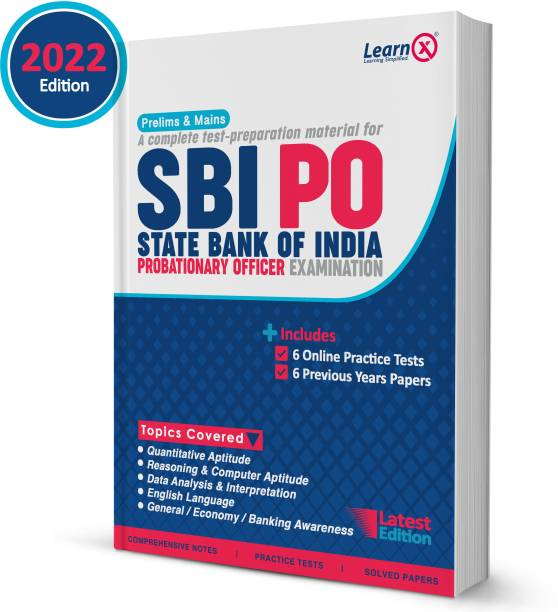 SBI PO Guide For Prelims & Mains Exam With 6 Online Practice Tests