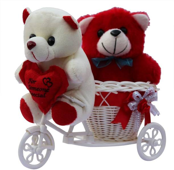AWANI TRENDS AT-TEDDY-CYCLE-001 Plastic Flower Basket