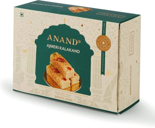 Anand Ajmeri Kalakand - Slow Cooked Pure Ghee Milk Cakes, 500gms Box
