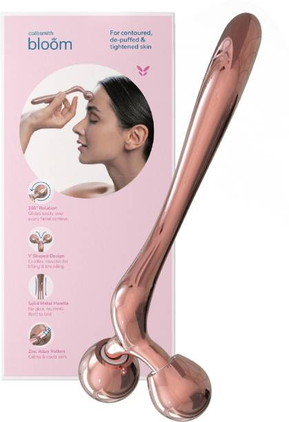 caresmith Bloom Face Sculpt Face Roller for Women | Cooling Zinc Alloy Rollers with Solid Metal Handle | Face Massager for Women | Facial Massager Machine | Roller Massager